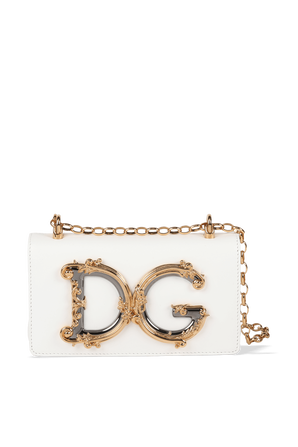 DG Girls Shoulder Bag in White DOLCE & GABBANA