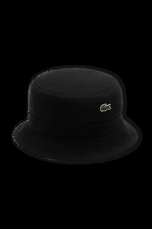 Logo Bucket Hat in Black LACOSTE