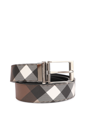 Louis Check Belt in Brown BURBERRY