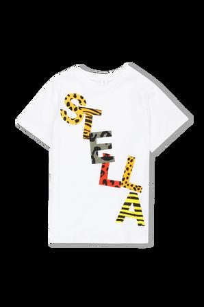 גילאי 2-14 חולצת טי לוגו צבעוני STELLA McCARTNEY KIDS