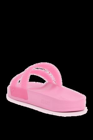 Double Strap Pool Slides in Pink TOMMY HILFIGER