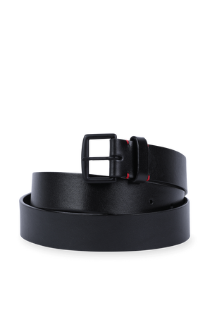 Leather Belt With Logo in Black DSQUARED2