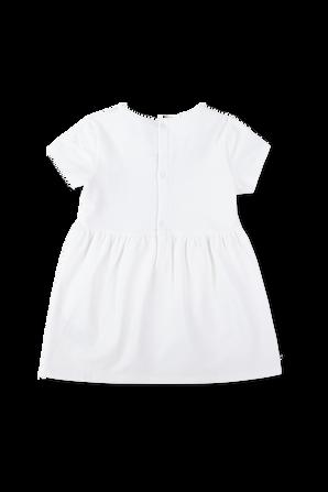 גילאי 0-24 חודשים שמלת לוגו בלבן TOMMY HILFIGER KIDS