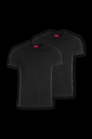 2P Cotton Shirt in Black HUGO