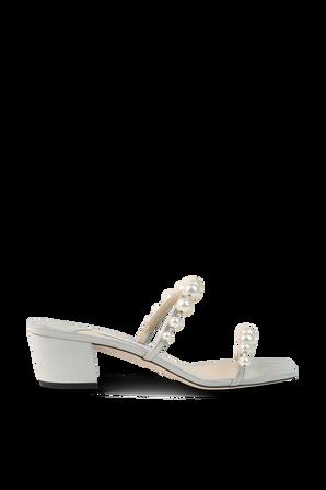 Amara Pearl Sandals in Off-White JIMMY CHOO