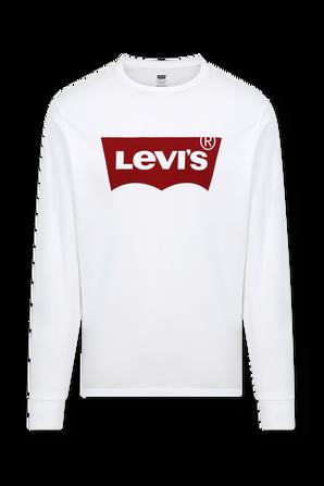 Long Sleeve Logo Shirt in White LEVI`S