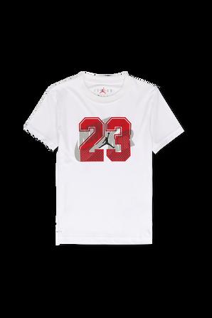 גילאי 4-7 חולצת לוגו 23 בלבן JORDAN