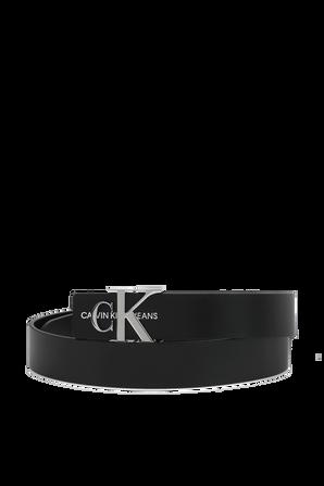 Lrather Belt in Black CALVIN KLEIN