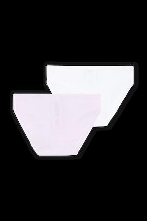 גילאי 2-12 מארז 2 תחתונים בוורוד ולבן PETIT BATEAU