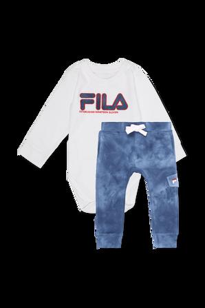גילאי NB-12 חודשים סט לוגו בגד גוף ומכנסיים FILA