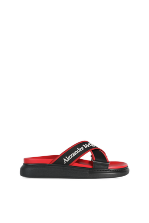 Hybrid Sandals in Black and Red ALEXANDER MCQUEEN
