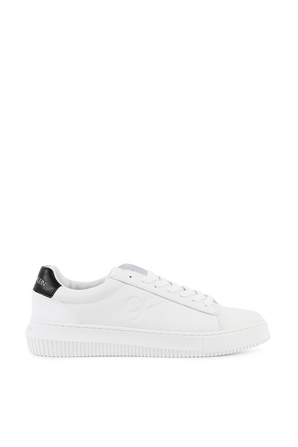 Leather Trainers in White CALVIN KLEIN
