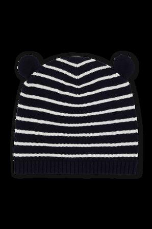 0-36 חודשים כובע גרב בדפוס פסים עם אוזניים  PETIT BATEAU