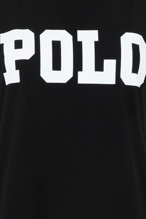 Big Fit Polo Cotton Tee in Black POLO RALPH LAUREN
