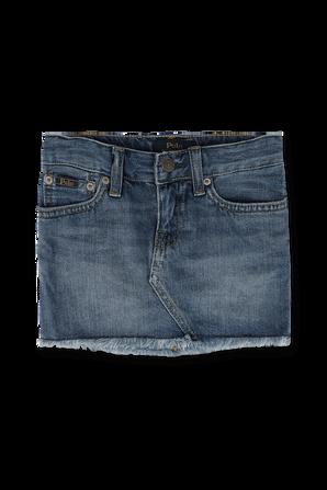 גילאי 5-6 חצאית ג'ינס עם אמרות פרומות POLO RALPH LAUREN KIDS