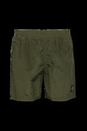 Textured Bermuda Shorts in Green STONE ISLAND