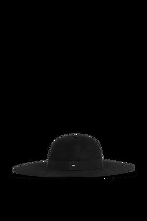 כובע רחב שוליים בצבע שחור SAINT LAURENT