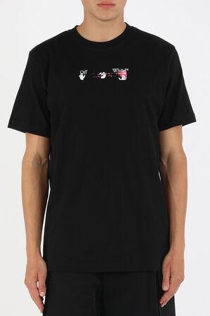 חולצה עם הדפס לוגו צבעוני בצבע שחור OFF WHITE
