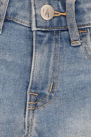 גילאי 4-16 מכנסי דנים קצרים CALVIN KLEIN