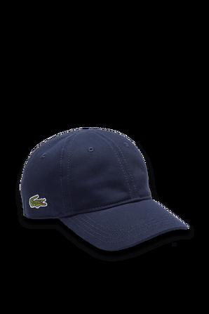 כובע קסקט עם לוגו תנין בנייבי LACOSTE KIDS
