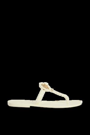 Mini Miller Flat Thong in Ivory TORY BURCH