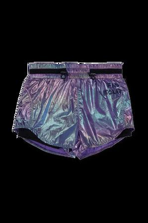 גילאי 4-16 מכנסיים קצרים בסגול גלוסי FILA
