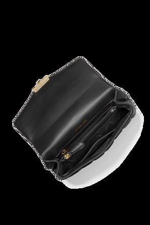 Soho LG Quilted Leather Shoulder Bag in Black MICHAEL KORS