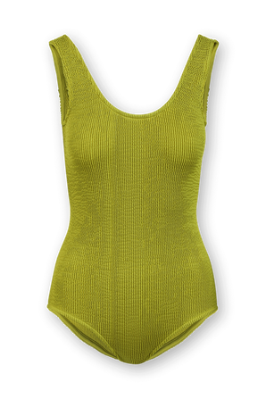 One - Piece Swimsuit in Yellow BOTTEGA VENETA