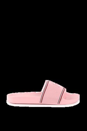 Monogram Logo Sliders in Pink TOMMY HILFIGER