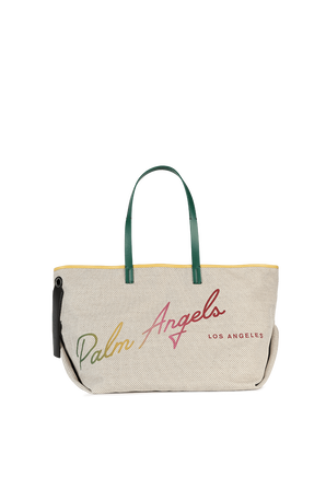 Rainbow La Cabas Shopper Bag In Off White PALM ANGELS