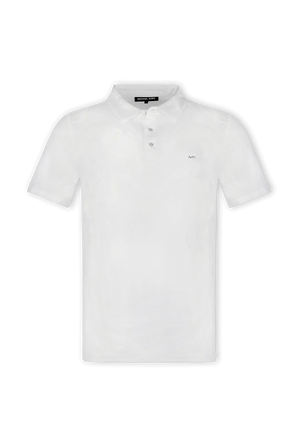 Cotton Polo Shirt in White MICHAEL KORS