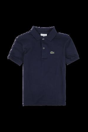 גילאי 2-14 חולצת פולו בנייבי עם פאץ' לוגו LACOSTE KIDS