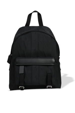 Logo Print All Over Backpack in Black VALENTINO