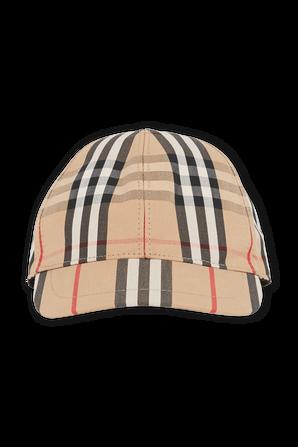 כובע בייסבול וינטג עם פרינט אייקוני BURBERRY
