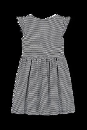 גילאי 6-12 שמלת פסים עם פפיון אדום PETIT BATEAU