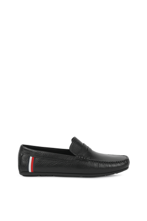 Classics Leather Driver Shoes in Black TOMMY HILFIGER