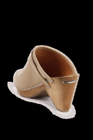 נעלי קבקבים בגוון חום ובמראה עץ טבעי ISABEL MARANT