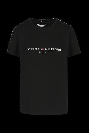 Tommy Logo T Shirt in Black TOMMY HILFIGER