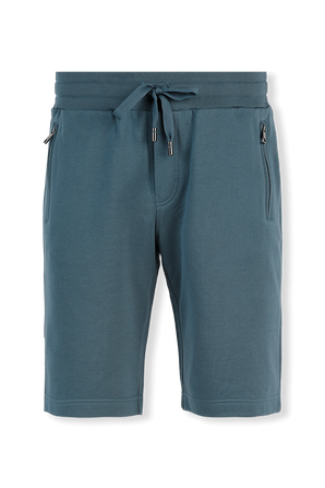 Jersey Jogging Shorts in Blue DOLCE & GABBANA
