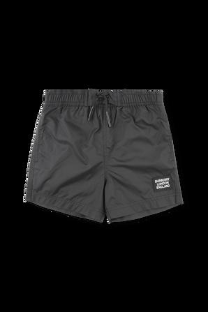 גילאי 3-14 בגדי ים שחור עם פאצ לוגו BURBERRY