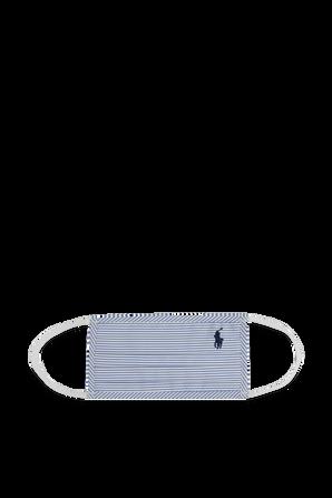 Logo Face Mask in Blue Stripes POLO RALPH LAUREN
