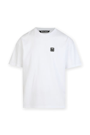 PXP Logo Patch Tshirt in White PALM ANGELS