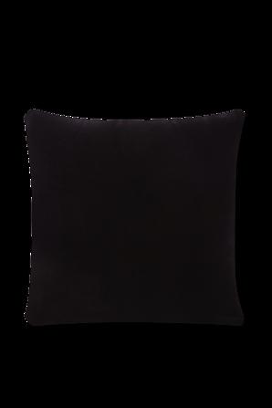 Medusa Studs Velvet Cushion in Black VERSACE