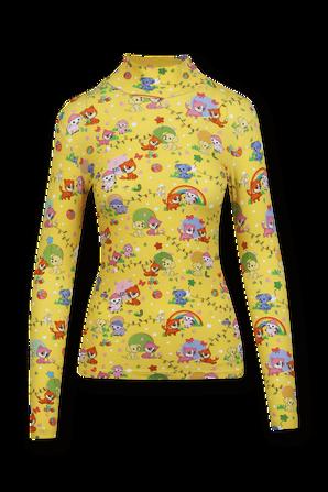Cartoon Pet Turtleneck Shirt in Yellow BALENCIAGA