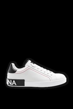 Portofino Leather Sneakers In White DOLCE & GABBANA