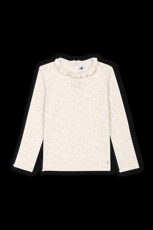 גילאי 3-12 חולצה בגוון טבעי עם שרוולים ארוכים PETIT BATEAU