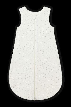 גילאי NB-12 חודשים שק שינה בגוון לבן מרשמלו עם דפוס כוכבים באפור בהיר PETIT BATEAU