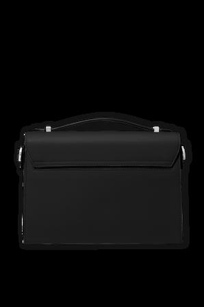 MD Messenger Bag in Black Leather MICHAEL KORS