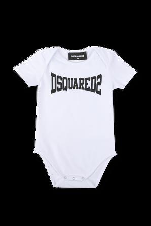 גילאי 3-24 חודשים בגד גוף לוגו בלבן DSQUARED2 KIDS