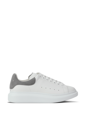 Oversized Sneakers in White and Grey ALEXANDER MCQUEEN